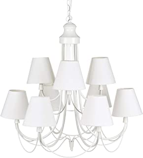 Amazon.es: lampara techo blanca chandelier