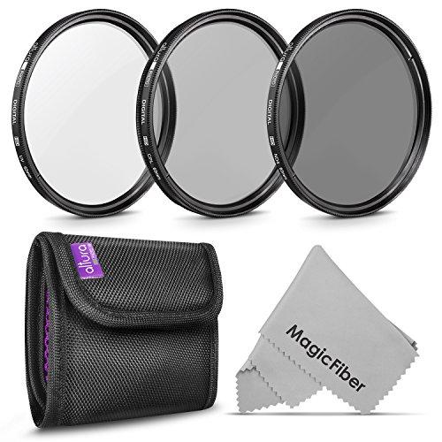 62MM Lens Filter Kit by Altura Photo, Includes 62MM ND Filter, 62MM Polarizing Filter, 62MM UV Filter, (UV, Polarizer Filter, Neutral Density ND4) for Camera Lens w 62MM Filter + Lens Filter Case