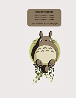 My Neighbor Totoro Composition Notebook: lined notebook for Kids, Middle, High School Students, Teachers, Homeschooling
