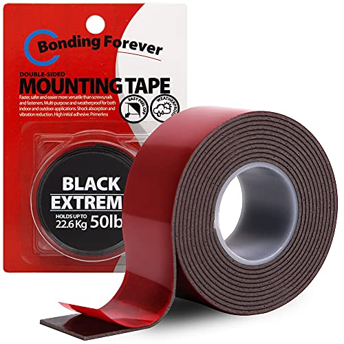 Bonding Forever Black Extreme Double Sided Tape | Foam Tape | Double Sided...