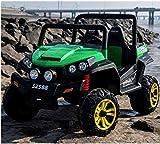 funstuff 24v 4 x 4 Ranch Wagon Stylish Child's Kids Electric Battery Ride On UTV (Green)