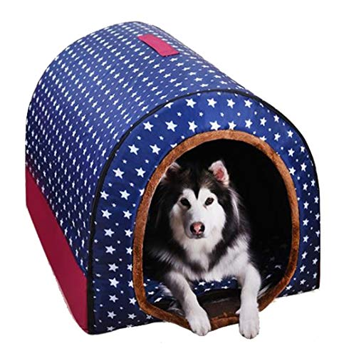 YUIJL Hundebetten Haustierbett flauschig Plüsch Kennel Warm-Haustier-Nest-Welpen Schlafsack Haustier Sofa Anti-Rutsch-Decke Waschbar Matratze - Rot (Size : XXL)