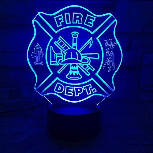 Led-brandwering gereedschap vorm 3D nachtlampje USB slaapkamer tafellamp 7 kleuren veranderen sfeerverlichting slaaplamp geschenken decor