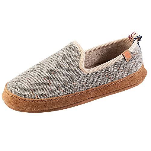 Acorn Women's Lightweight Bristol Loafer with Tweed Upper and Ultralight Cloud Cushioning Slipper, Pebble, 8-9