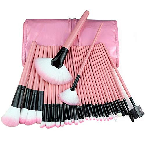 Pinceau de maquillage mis 32 ensembles de 24 outils de maquillage maquillage studio photo brosse, 32 rose