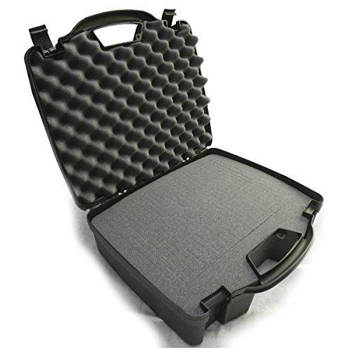 Casematix Drum Kit Microphone Travel Case Compatible with Kick Bass Drum Mic, Snare Tom mic, Overhead mic, Mounts, Clamps for cad, Shure, Samson, Pyle Pro, Audix and More