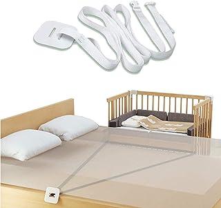 Gurt für Babybett,beistellbett befestigung,Beistellbett befestigung boxspringbett,Gurt für Boxspringbetten,Beistellbett Gurt Weiß,Weiß, 7m Ohne Bett