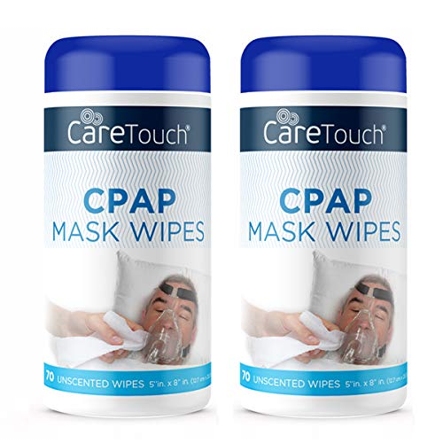 Care Touch CPAP Cleaning Mask Wipes - Unscented, Lint Free - 140 Wipes