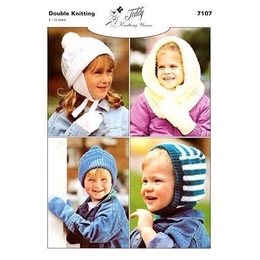 Teddy-DK-Knitting-Pattern-Childrens-Hats-Mitts-7107