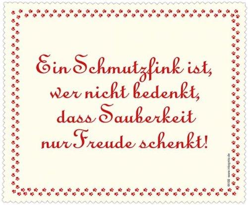 Brillenputztuch 18 x 15 cm • 44100 ''Schmutzfink'' von Inkognito • Künstler: INKOGNITO © Julia Weiss