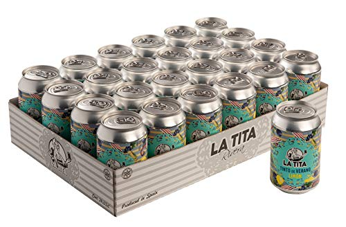 La Tita Tinto de Verano con Limón Lata - 24 latas x 330 ml