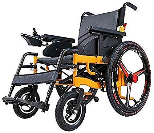BXZ Zusammenklappbarer tragbarer Elektrorollstuhl Leichter faltbarer Elektrorollstuhl Elektrische Rollstühle Faltbarer und leichter Controller auf der rechten Seite mit extra breitem Sitzklapp