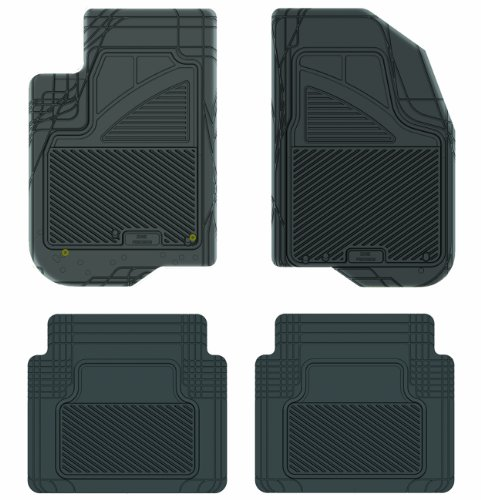 Koolatron Pants Saver Custom Fit 4 Piece All Weather Car Mat for Select Pontiac G6 Models (Black)