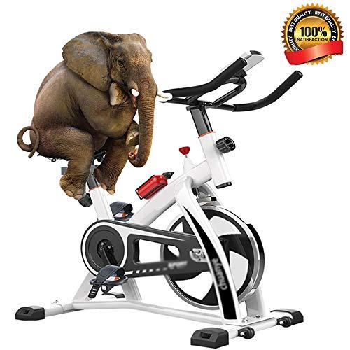 LQ&XL Bicicleta EstáTica Indoor - Bicicleta De Spinning - Ejercicio Fitness Bicleta con Pantalla Led, Volante,Ajuste De Resistencia, hogar de Adelgazamiento Adultos Unisex Soporte De Carga 250 Kg/Bl