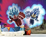 Fotomural Vinilo de Pared Dragon Ball Super Goku y Vegeta Producto Oficial | 100x70 cm | Fotomural para Paredes | Producto Original | Decoración Hogar | DBS