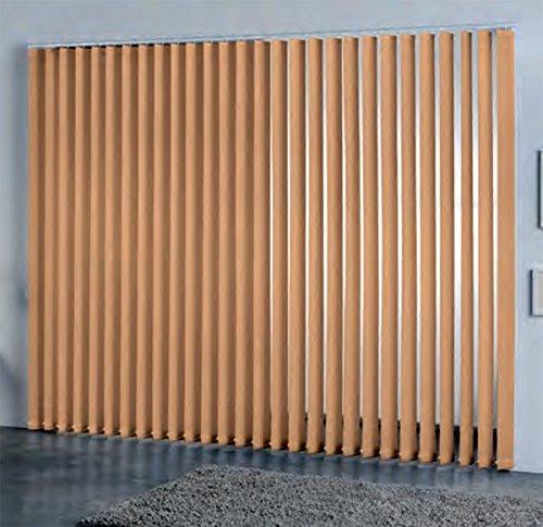 DECORACION NUEVO ESTILO- Cortina de Lamas Verticales a Medida Miami de 89 mm 15 Salmón de 140 x 260 (Varias Medidas y Colores)