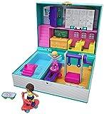 Polly Pocket Coffret Univers Aventures à l'école, 2 mini-figurines, accessoires, autocollants et surprises cachées, jouet enfant, GFM48