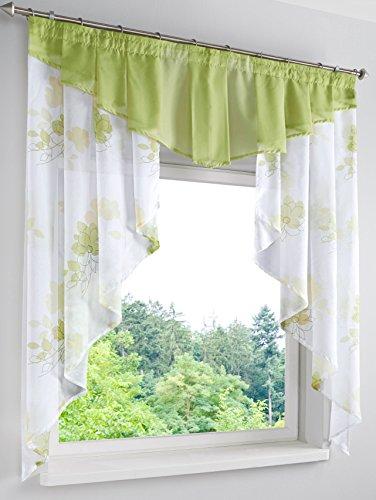 Webschatz Kleinfenster Gardine, Jenny Grün