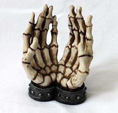 Preisvergleich Produktbild Gothic Handyhalter Smartphonehalter Skelett-Hände angekettet