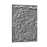 liutao Dani Pedrosa MotoGP - Póster decorativo para pared, diseño de pared de 20 x 30 cm