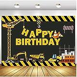 Tema de construcción para fiestas de cumpleaños, fotografía, telón de fondo, constructor de camión volquete de cumpleaños, decoración de fondos para estudio fotográfico de vinilo de 1,5 x 2,1 m