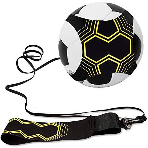 Remebe Soccer Trainer Equipo de Entrenamiento de Patada de fútbol Ajustable Habilidades de Control Cinturón de práctica de Cintura Entrenador de Voleibol Rugby para niños y Adolescentes