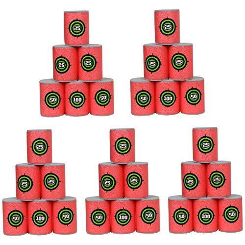 POKONBOY 30Pcs Soft Bullet Target, EVA Bullet Dart Target Compatible with Nerf Blasters Guns(2.36×1.57 Inch)