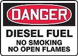 Accuform'Danger Diesel Fuel NO Smoking NO...