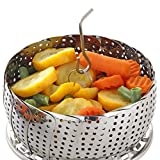 Vegetable Steamer Basket Set - Steamer Inserts for Instant Pot + Safety Tool - 100% Stainless Steel - Pressure Cooker & Instant Pot Accessories, Pot in Pot - Egg Rack (One-Pack)