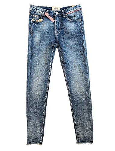 Wiya Damen Jeans Hose Reißverschluss Freizeithose DY292 (M)