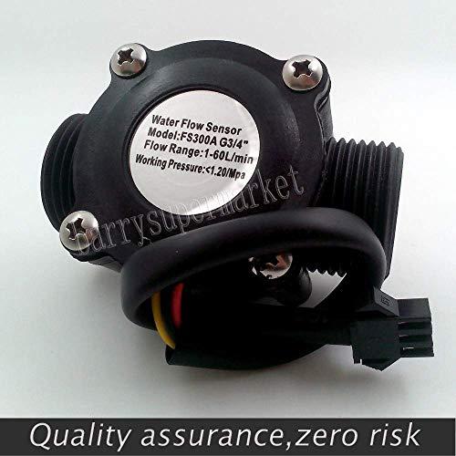 Wasserdurchflusssensor - Hall Durchflussmesser Pool Schwimmerschalter Anzeige Zähler für Wasser Heizung Kraftstoffanzeige 1-60L / min G3 / 4