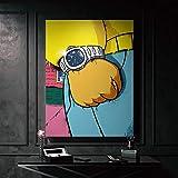 wZUN Lienzo Artista de la Pared decoración del hogar Carteles nórdicos de impresión de Alta definición Reloj Pintura de recompensa imágenes de la Sala de Estar 60x80 Sin Marco