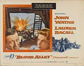 Blood Alley Movie Poster (22 x 28 Inches - 56cm x 72cm) (1955) Half Sheet -(John Wayne)(Lauren Bacall)(Paul Fix)(Joy Kim)(Berry Kroeger)(Mike Mazurki)
