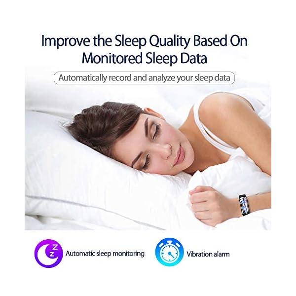 PYBBO Monitor de fitness con temperatura corporal y presión arterial, oxígeno y frecuencia cardíaca, monitor de sueño… 6