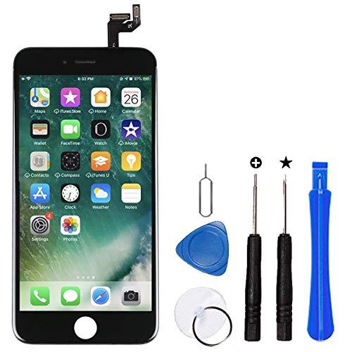 Ecran pour iPhone 6S 4.7 Pouces Noir LCD Vitre Tactile Kit de Réparation LCD Remplacement Rechange Outils Compris