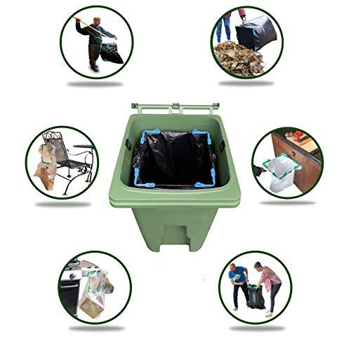 Purchase BagEZ Trash Can Bag Holder- Make Everyday Smaller Trash Bags Fit Large Outdoor Trash Cans W...