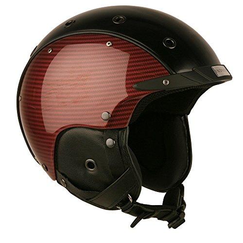 Indigo Ski-Helm Carbon | Royal Red | Ski & Snowboard Helm | Hochwertige Qualität (M - Kopfumfang 54-58cm)