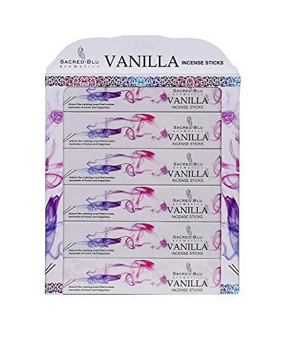 GJ BOON Sacred BLU Aromatics - Varillas de Incienso de Vainilla Hechas a Mano