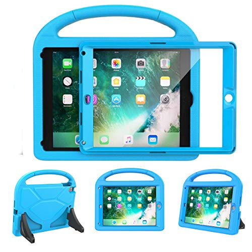 LEDNICEKER Kids Case for iPad 9.7 2018/2017 & iPad Air 2 - Built-in Screen Protector Shockproof Handle Friendly Foldable Stand Kids Case for iPad 9.7 2017/2018 (ipad 5&6) & iPad Air 2 2014 - Blue