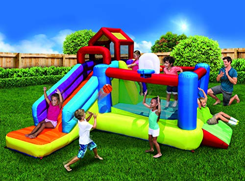 BANZAI 2-in1 Ultimate Combo Pack Bouncer and Water Parks, Multi