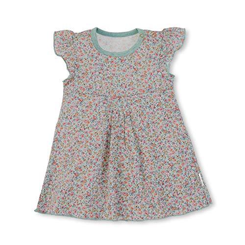 Sterntaler Baby-Mädchen Baylee Rose Kleid, Grün (Puder Green 228), 6-9 Monate (Herstellergröße: 74)