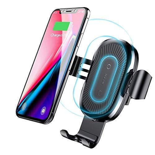 Qi Auto Handyhalterung,Drahtlos Auto KFZ Handy Halterung ladegerät,Qi Schnelles Wireless Charger Handyhalterung,Kabelos Schnellladestation für iPhone 11/11 Pro/XR/XS/XS Max/X andere Qi-fähige Handys