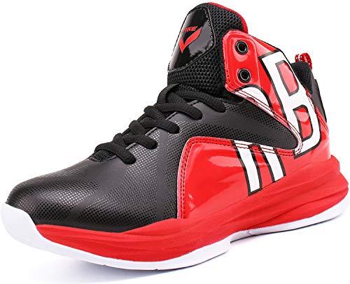 Elaphurus Kinder Hallenschuhe Basketballschuhe Sportschuhe Mädchen Turnschuhe Tennischuhe Kinder Sneaker Laufschuhe,1 Rot,36 EU
