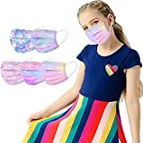 50 Pcs Disposable Face_Masks Tie Dye Starry Sky Print Colorful Pink 3 Ply Protection for Kids Face Outdoor Sport Protective Shield boy girl on School Shield With Nose Wire