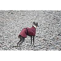 Capa impermeable para perro con forro de lana, de 4colores, 5 tallas y con correa de cierre ajustable para galgo inglés/lurcher/galgo italiano/lebreles