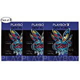 Playboy New York Shampoo Shower Gel 250ml & Spray 50ml (Pack of 3)