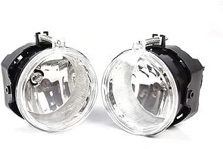 Fog Lights Compatible With 2005-2010 Dodge Challenger Grand Caravan Avenger Caliber | Clear Fog Lamps by IKON MOTORSPORTS