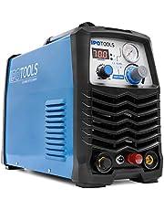 IPOTOOLS CUT-70R Pilot plasmaskärare med pilottändning – plasmaskärare 70 A till 25 mm skäreffekt inverter svetsapparat plasmaskärare med IGBT/HF tändning pilotbåge/blå/230 V