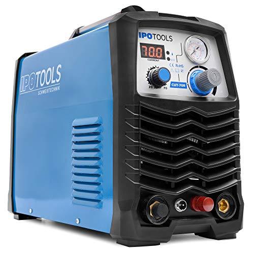 IPOTOOLS CUT-70R Pilot Plasmaschneider mit Pilotzündung - Plasmaschneidgerät 70A bis 25 mm Schneidleistung Inverter Schweißgerät Plasma Cutter IGBT/HF Zündung Pilotbogen / 400V / 7 Jahre Garantie