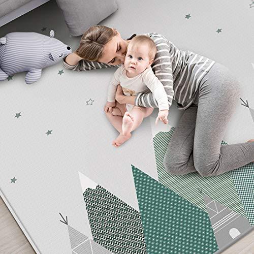 DXX Tappeto Gioco per Bambini Tappeto Neonato Yoga Mat Anti Freddo e umidità Doppia Faccia Impermeabile 200 x 180 cm